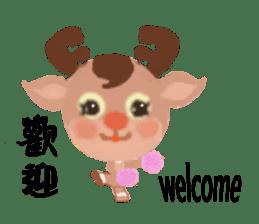 reindeer Lily is running around world sticker #5837602