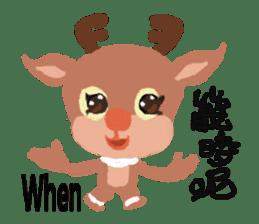 reindeer Lily is running around world sticker #5837604