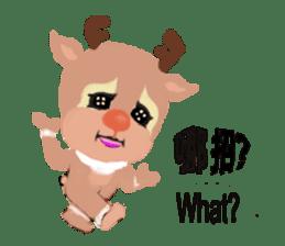 reindeer Lily is running around world sticker #5837607