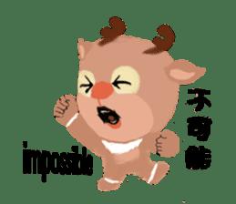 reindeer Lily is running around world sticker #5837609