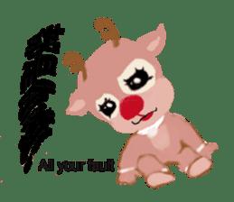 reindeer Lily is running around world sticker #5837614