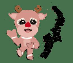 reindeer Lily is running around world sticker #5837618