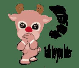 reindeer Lily is running around world sticker #5837620