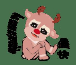 reindeer Lily is running around world sticker #5837622