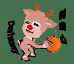reindeer Lily is running around world sticker #5837627