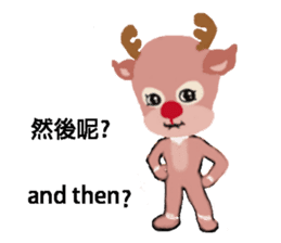 reindeer Lily is running around world sticker #5837630