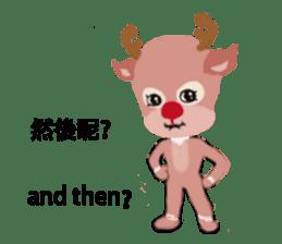reindeer Lily is running around world sticker #5837630