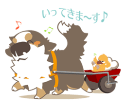 BerneseMountainDog-kurukuru no shippo- sticker #5839558