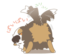 BerneseMountainDog-kurukuru no shippo- sticker #5839559