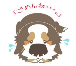 BerneseMountainDog-kurukuru no shippo- sticker #5839561