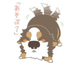 BerneseMountainDog-kurukuru no shippo- sticker #5839564
