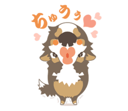 BerneseMountainDog-kurukuru no shippo- sticker #5839568