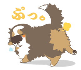 BerneseMountainDog-kurukuru no shippo- sticker #5839572