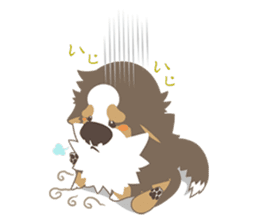 BerneseMountainDog-kurukuru no shippo- sticker #5839582