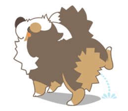 BerneseMountainDog-kurukuru no shippo- sticker #5839587