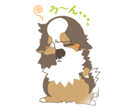 BerneseMountainDog-kurukuru no shippo- sticker #5839589