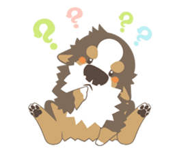 BerneseMountainDog-kurukuru no shippo- sticker #5839591
