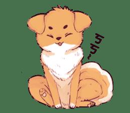 Bonjour!dogs. sticker #5839674