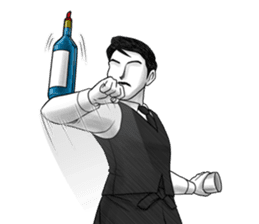 Flair bartender sticker #5839887