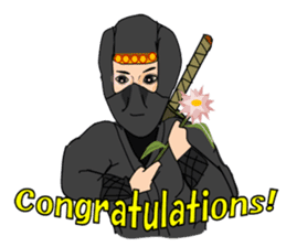 "Ninja ""Shinobu"" -English edition- sticker #5841325"