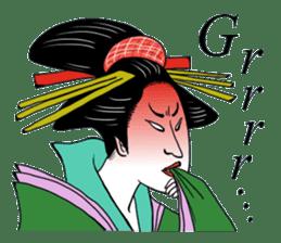 UKIYOE JAPAN English version sticker #5847743