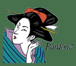 UKIYOE JAPAN English version sticker #5847744