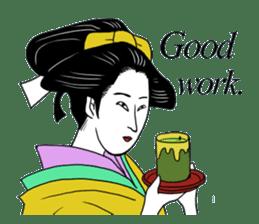UKIYOE JAPAN English version sticker #5847749