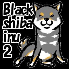 black shiba inu sticker2 english version