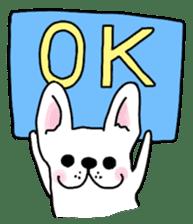 Happy French Bulldog sticker #5855611