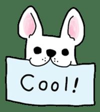 Happy French Bulldog sticker #5855613