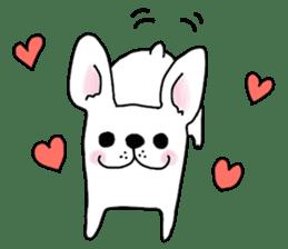 Happy French Bulldog sticker #5855615