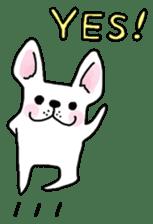 Happy French Bulldog sticker #5855622