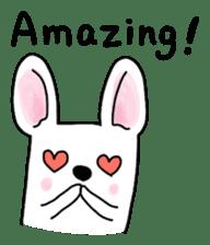Happy French Bulldog sticker #5855624