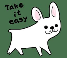 Happy French Bulldog sticker #5855627