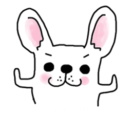 Happy French Bulldog sticker #5855637
