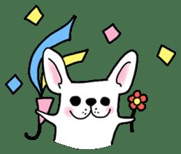 Happy French Bulldog sticker #5855642