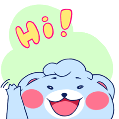 Cute and Funny Blue Bear