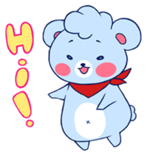 Cute and Funny Blue Bear sticker #5858610