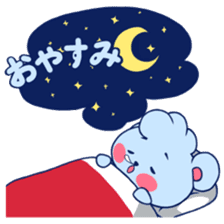 Cute and Funny Blue Bear sticker #5858613
