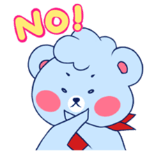 Cute and Funny Blue Bear sticker #5858617