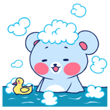 Cute and Funny Blue Bear sticker #5858623