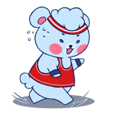 Cute and Funny Blue Bear sticker #5858624