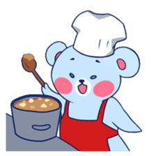 Cute and Funny Blue Bear sticker #5858625