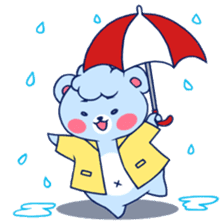Cute and Funny Blue Bear sticker #5858626