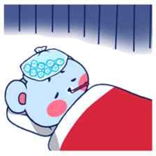 Cute and Funny Blue Bear sticker #5858628