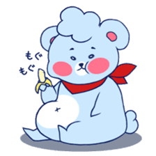 Cute and Funny Blue Bear sticker #5858630