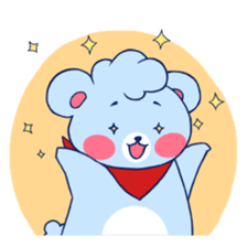 Cute and Funny Blue Bear sticker #5858634
