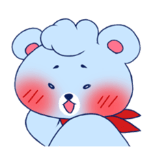 Cute and Funny Blue Bear sticker #5858636