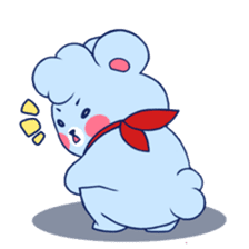Cute and Funny Blue Bear sticker #5858641
