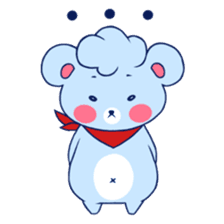 Cute and Funny Blue Bear sticker #5858642